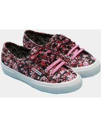 Mary Katrantzou Superga X Mk Canvas Sneakers Pink Strip Valley