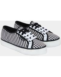 Mary Katrantzou Superga X Mk Canvas Sneakers Black And White