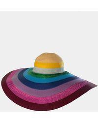 Mary Katrantzou Riviera Straw Hat - Multicolor