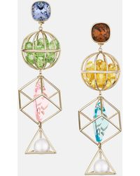 Mary Katrantzou - Nostalgia Triple Drop Pierced Earrings Light Multi - Lyst