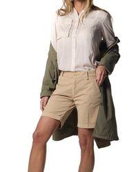 Mason's Safari Shirt Military Shirt In With Studs - Natural
