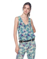 Mason's Ada Summer Top Viscose With Animalier Print - Blue
