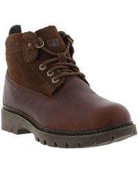 Caterpillar Melody Lace Up Leather Ankle Boots - Brown