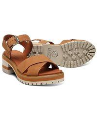 Marsh Sandals Platform Violet Leather Crossband bf7vY6yg