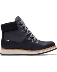TOMS Mesa Waterproof Ankle Boot - Black Leather