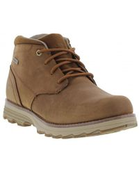 Caterpillar | Elude Waterproof Leather Lace Up Ankle Boots | Lyst