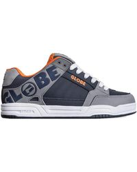 Globe Tilt Skate Shoes - Grey Navy Orange - Blue