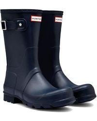 HUNTER Original Short Wellies Rain Boots - Navy - Blue