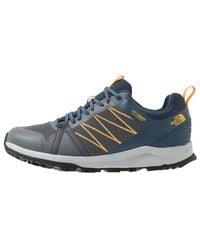 The North Face Litewave Fastpack Ii Wp Waterproof Walking Shoes - Zinc Grey Shady Blue