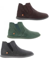 Softinos - By Fly London Tep Soft Leather Chelsea Ankle Boots - Lyst