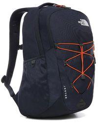 The North Face North Face Unisex Jester Backpack Rucksack Laptop Bag - Urban Navy Persian Orange - Blue