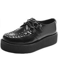 T.U.K. - Viva Mondo Creeper Chunky Platform Leather Shoes - Lyst