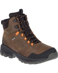 Merrell Forestbound Mid Waterproof Boots - Dark Earth - Brown