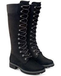 Timberland 14 Inch Premium Nubuck Leather Boots - Black