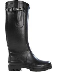 Aigle Ntine Tall Wellies Rain Boots - Noir - Black