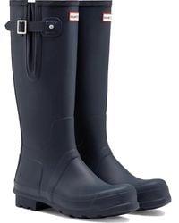 HUNTER Men's Original Side Adjustable Wellington Boots - Blue