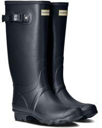 HUNTER - Wellies Field Huntress Rain Boots - Navy Blue - Lyst