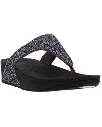 Fitflop - Glitterball Womens Toe Post Sandals - Lyst