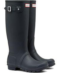 HUNTER New Original Tall Wellies Rain Boots - Navy - Blue
