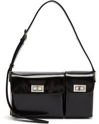 BY FAR - Snakeskin-embossed Top Handle Handbag - Lyst