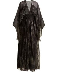Zandra Rhodes Summer Collection The 1973 Field Of Lilies Gown - Black