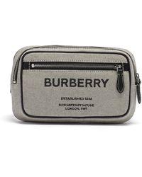 Burberry ホースフェリー キャンバス&レザーベルトバッグ - マルチカラー