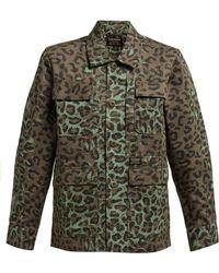 Maharishi - Woodland Leopard And Camo Print Cotton Jacket - Lyst