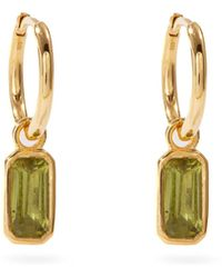 Theodora Warre Peridot & Gold-plated Sterling-silver Earrings - Metallic