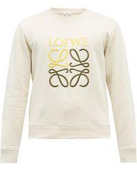 Loewe アナグラム コットンスウェットシャツ - ホワイト