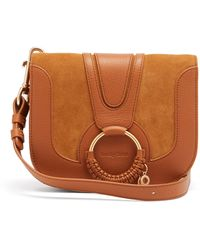 See By Chloé See By Chloé ハナ スモール スエード&レザーバッグ - レッド