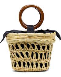 Sensi Studio - Bamboo-handle Straw Basket Tote Bag - Lyst