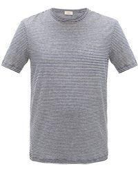 Altea ボーダー リネンtシャツ - ブルー