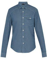 Belstaff Steadway Chambray Shirt - Blue