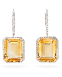 SHAY - ダイヤモンド&トパーズ 18kホワイトゴールドピアス - Lyst