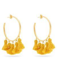 Marte Frisnes - Raquel Gold-plated Tassel Hoop Earrings - Lyst