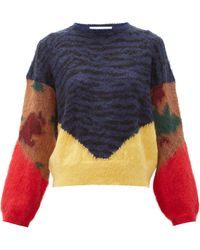 Toga Animal-print Jacquard Knit - Blue