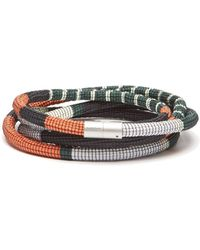 Pleats Please Issey Miyake Striped Cord Belt - Multicolor