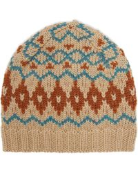 Acne Studios - Fair Isle Wool Hat - Lyst