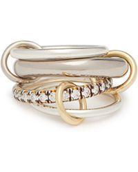 Spinelli Kilcollin - Luna 18kt Black Gold & Diamond Ring - Lyst