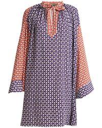 Duro Olowu Dot-print Tie-neck Crepe Dress - Multicolour