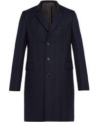 Paul Smith - Wool-herringbone Overcoat - Lyst