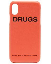Raf Simons - - Leather Iphone® X Case - Womens - Orange - Lyst