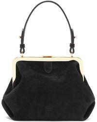 Khaite Agnes Small Suede Top-handle Bag - Black