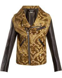 Junya Watanabe - Floral-jacquard Contrast-sleeved Jacket - Lyst