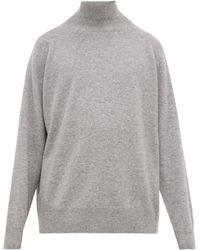 Raey Loose-fit Funnel-neck Cashmere Jumper - Grey