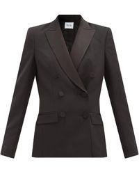 Pallas Haviland Double-breasted Satin-lapel Wool Jacket - Black