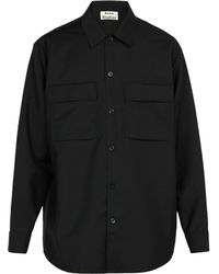 Acne Studios - Houston Mohair And Wool Blend Shirt - Lyst