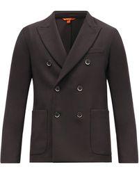 Barena モスト ツイル ダブルスーツジャケット - ブラック