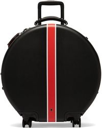 OOKONN Front-stripe Circular Check-in Suitcase - Black