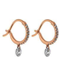 Raphaele Canot - - Set Free Diamond & Pink Gold Earrings - Womens - Rose Gold - Lyst